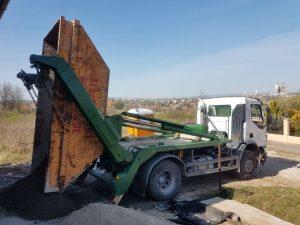 Konténeres betonszállító
