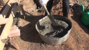 Kézi betonozás