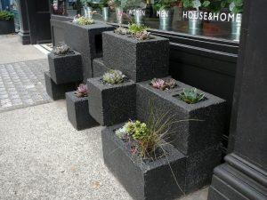 Kaspó beton elemekből