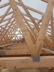 Szeglemezes tető szerkezet