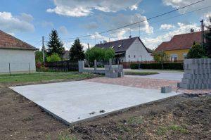 mobilgarazsbolt.hu betonalap alapozas elokeszitese mobilgarazs 3